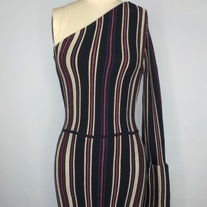 Rachel Roy Tenley Dress Metallic Stripe sz XS NWT